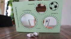 fertige Einladungskarte zur Fußballparty