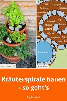 Kräuterspirale bauen – so geht's | eatsmarter.de #kräuterspirale #kräuterturm #kräuterschnecke #garten #kräuter #kräuterziehen #balkongarten