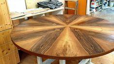 Der besondere Tisch: Tischplatte Nussbaum mit Sternfuge furniert Einblick in die Herstellung. Schönes Design Höchste Qualität Der Kunde hat sich sein Traum vom Möbel wahr gemacht.  #schreinereilohrer #massivholzmöbel #massanfertigung #innenarchitektur #architekten #holzhochkarätig #tisch #swissmade #handwerkskunst #holzwerkstatt #nachhaltigkeit #wood #woodworker #carpenter #furniturerestauration #woodart Table, Furniture, Home Decor, Wood Workshop, New Furniture, Nice Designs, Restore, Architects, Sustainability