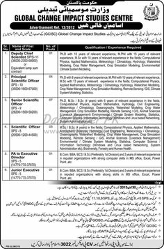 Job Opportunities In Global Change Impact Studies Centre Islamabad  http://www.dailypaperpk.com/jobs/178073/job-opportunities-global-change-impact-studies-centre-islamabad