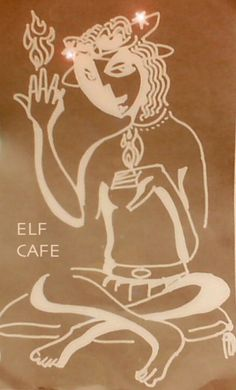 Elf cafe.  Rose water dates and olives for starter, oyster mushroom kebabs over saffron rice, baked dates, and risotto.  No room for desert.  Yum!