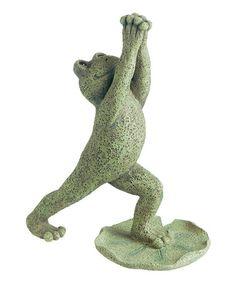 Loving this Yoga Frog Figurine on #zulily! #zulilyfinds