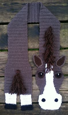 Horsin' Around Scarf ~ adult one size fits all custom made to order https://www.etsy.com/shop/HenPeckedHooks?ref=hdr_shop_menu
