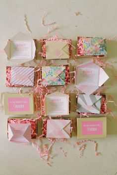 Mini party invitations: http://www.stylemepretty.com/living/2014/10/08/22-of-the-most-creative-party-invitations-ever/