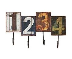 Perchero de metal Números - multicolor