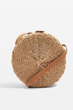 Barbar Straw Circle Cross Body Bag