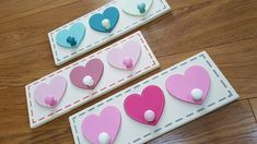 Heart Coat Pegs / hooks (1,2,3,4... or more on a backplate) by JigsawWoodenProducts on Etsy