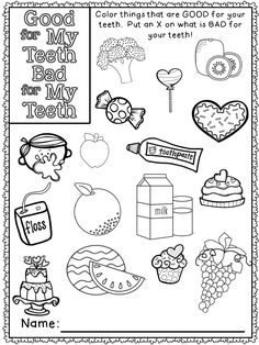 Great Dental Health Month Coloring Pages 45 Dental Health Month Coloring