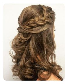 Wedding hairstyles half up half down, with veil, with flowers bridal hair, long . Wedding hairstyles half up half down, . Wedding Hairstyles For Medium Hair, Wedding Hairstyles Half Up Half Down, Wedding Hair Down, Wedding Hair And Makeup, Trendy Hairstyles, Braided Hairstyles, Creative Hairstyles, Bridesmaids Hairstyles, Curly Half Up Half Down