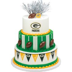 Green Bay Packers Tiered Cake