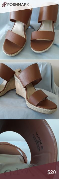 Impo Valencia shoes brown size 6m  NEW WITHOUT BOX These shoes have never been worn! Brown leather sandal wedge pump Shoes Sandals