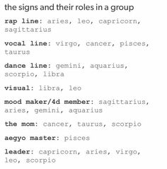 oHhh my goshhh yessss this is what i needed!!! I'm in the vocal line and the aegyo master..which actually fits me a lot damn.
