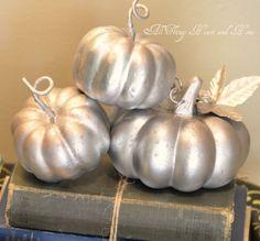 autumn...faux mercury glass pumpkins...DIY