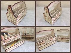 Two Nail Polish Organizer Wooden Storage Boxes by CLVLArtsBrazil, $59.00