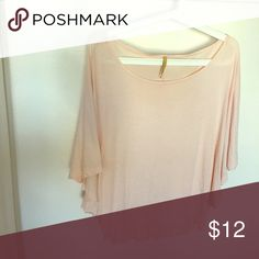 Blush peachy pink top Super comfy. Blush pink. Easy to wear. Great for spring/summer irenes closet Tops Blouses