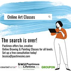 The search is over! 🎨💻✍️ #Pastimes offers #fun, #creative Online #Drawing & #Painting Classes for all levels. Set up a free #consultation today! Jessica@pastimesinc.com Online Art Classes, The Search, Painting Classes, Online Drawing, Creative Thinking, Learning, Memes, Drawings, Fun