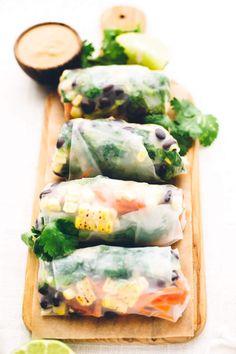 Southwest Vegan Spring Rolls with Smoky Chipotle SauceFollow for  Mein Blog: Alles rund um Genuss & Geschmack  Kochen Backen Braten Vorspeisen Mains & Desserts!