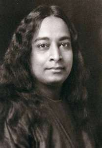 "Paramahansa Yogananda. Gentle, elegant, enlightened. Paramahansa Yogananda initiated  Mahatma Gandhi in Kriya Yoga, and sat with many other spiritual masters of India, including Sri. Ramana  Maharishi. At this time his Guru, Swami Sri Yukteswar, gave him Indiaʹs highest spiritual title, that of  Paramahansa, which means ""Supreme Swan,"" and signifies, ""One who manifests the supreme state of unbroken  communion with God."""