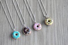 Polymer Clay Miniature Food Jewelry Doughnut door MySecretCravings