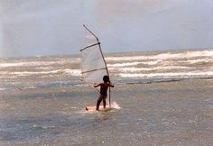 The boy who built a windsurfer with plastic and wood