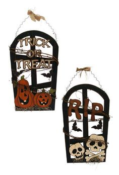 Halloween Wood & Metal Sign (Assorted Styles)
