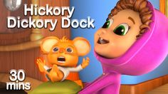 Hickory Dickory Dock | Counting Song | Nursery Rhyme Compilation | Kids ...