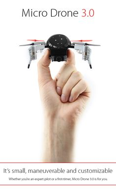 Micro Drone has been announced via Indiegogo. Now the new flying drone supports FPV (first person point of view), expansion and customization. Micro Drone, Drone Technology, Cool Technology, Rc Drone, Drone Quadcopter, Tech Gadgets, Cool Gadgets, Unique Gadgets, Best Gifts For Boys