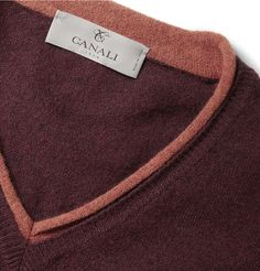 CanaliFine-Knit Wool Sweater|simple neck detail Francy Kali