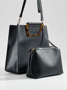 5fba006b31 Shopper taška s ozdobnými rúčkami - čierna - - Mohito - 1