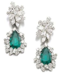 Earrings by Bulgari circa 1964.