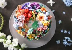 Atelier Soo's Buttercream floral cake
