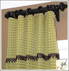 Window Treatment Ideas From Custom Curtains To Easy Sewing Projects You Can Do. love the mini pom-pom fringe. Diy Curtains, Custom Curtains, Small Curtains, Easy Sewing Projects, Home Projects, Sewing Ideas, Window Coverings, Window Treatments, Decoration