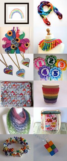 Somewhere over the rainbow by BirchCottageCrafts on Etsy--Pinned with TreasuryPin.com