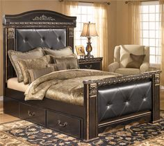 Coal Creek Queen Upholstered Bed with Under Bed Storage by Signature Design by Ashley