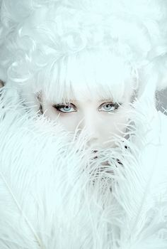 Modern Fairytale / Queen of Ice and Snow / karen cox.  Classic and Pure...White....