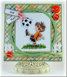 New stamp from Lili of the Valley stamps that will be released in May. Homemade Birthday Cards, Birthday Cards For Boys, Homemade Cards, Boy Cards, Kids Cards, Cute Cards, Beautiful Handmade Cards, Scrapbooking, Copics