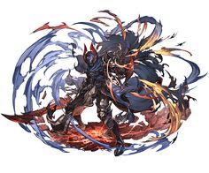[竜殺しの騎士]ジークフリート(SSR)3 Game Character Design, Fantasy Character Design, Character Concept, Character Art, Anime Warrior, Anime Demon, Armor Concept, Concept Art, Granblue Fantasy Characters
