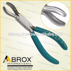 Model Number: AI-PP-104      Stainless Steel Ring Holding Piercing Pliers     15 cm.      Box Joint.      Satin Finish.      With or W/Out Spring.      PVC or Foam Padded Grip (Any Color).      Also available in Plain Handle.