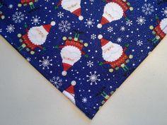 Bandana/Scarf Tie On/Slide On Christmas Santa Custom Made by Linda xS, S, M, L #CustomMadebyLinda