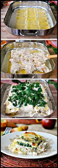 White Cheese and Chicken Lasagna