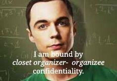 Sheldon, closet organizer