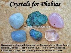 Phobias — Aquamarine, Chrysocolla, or Rose Quartz