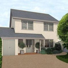 Strategy, tricks, furthermore guide with regards to getting the most ideal result and making the max perusal of home renovation concept Garage Extension, House Extension Design, House Design, Side Extension, Extension Ideas, Bungalow Exterior, Modern Farmhouse Exterior, House Cladding, Facade House