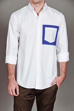 Pocket Square Shirt White