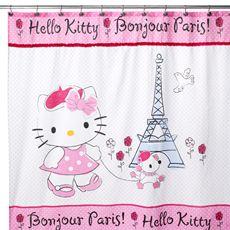 "Hello Kitty Bonjour Paris 72"" x 72"" Shower Curtain - Bed Bath & Beyond= ( 2 showers Curtain)"