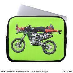 FMX - Freestyle Aerial Motocross Stunt III Computer Sleeves