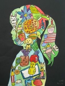 Image Silhouette Self Portraits - Create self portraits that incorporate overlapping images representing the artist.