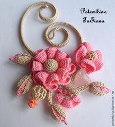 "Buy Necklace ""Fairy fruit ice"" - beige, pink, rose quartz, rose quartz necklace"