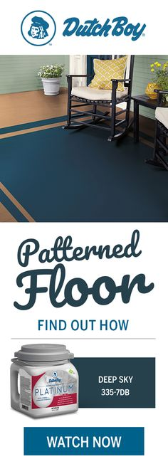 Want to learn how to paint patterns or how to paint floors? Lucky for you, Dutch Boy® Paints makes how-to projects like this easy. Discover how a patterned floor, like a faux rug design, can quickly make a room feel new. Paint Patterns, Floor Patterns, Painted Floors, Painted Furniture, Pallet Furniture Plans, Furniture Projects, Dutch Boy Paint, Built In Bookcase, My Living Room