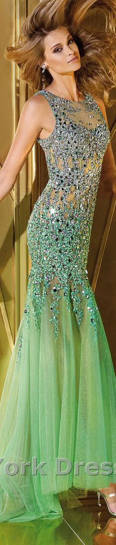 Alyce Paris design  #large #formal #sparkly #green #bejeweled #dress
